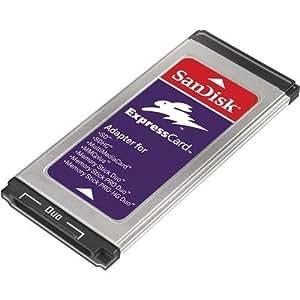 Sandisk SDAD109A11 Digital Media Memory Card to Express Slot Adapter