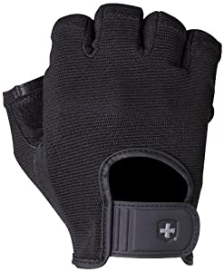 Harbinger 15530 Power StretchBack Glove, Large (Black)