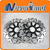 Neverland 2 pcs Front Brake Disc Rotor for Honda XL 1000V VARADERO 99 VARADERO ABS 04 VFR 800 98