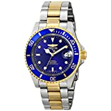 Invicta 8928OB Pro Diver 23k Gold Plating and Stainless Steel Two-Tone Blue Dial Automatic Men's Watch
