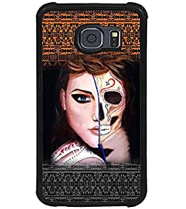 PRINTSWAG GIRL WITH SKELETON Designer Back Cover Case for SAMSUNG GALAXY S6