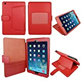 CaseGuru Advanced Wallet Case for iPad Air - 5th Generation/ iPad Air 2 / 6th Generation (Launched October 2014) with Integrated Flip Stand Function Auto wakeup Sleep Sensor, Credit/oyster card holder with magnetic clasp/button Free Stylus Pen and LCD Sc