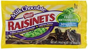 Nestle Raisinets Milk Chocolate, 1.58-Ounce Packages (Pack of 36)