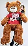 BigPlush-T-shirt-LET-ME-BE-YOUR-TEDDY-BEAR-Giant-Teddy-Bear-Five-Feet-Caramel