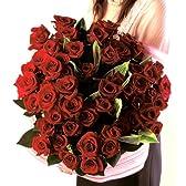 赤バラ花束 50本 【チルド便でお届け】フラワーギフト