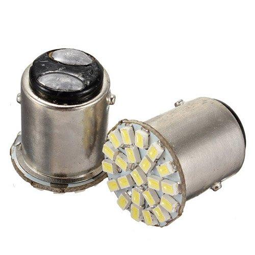 10Pcscs Bay15D T25 1157 22 Smd 1206 Led Car Rear Tail Stop Brake Turn Light Lamp Bulb
