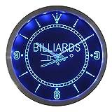 Nc0299-b Billiards Pool Room Table Bar Neon Sign LED Wall Clock