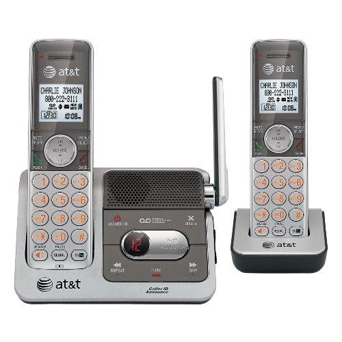 Telefonos-fijos AT&T, AT y T CL82201 DECT 6.0 teléfono inalámbrico, plata/gris, 2 auriculares en Veo y Compro