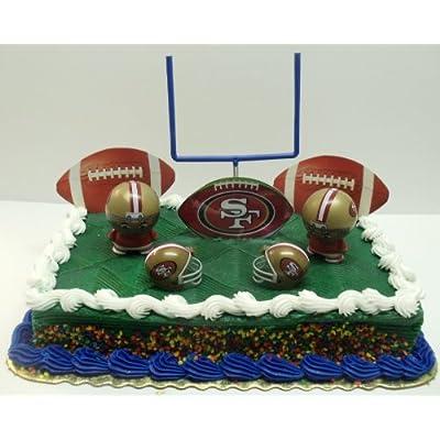 Amazon.com: NFL Football San Francisco 49ers Birthday Cake Topper Set