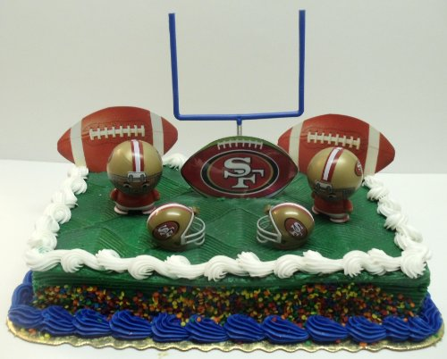 NFL Football San Francisco 49ers Birthday Cake Topper Set Featuring 49ers Helmets and 49ers Decorative Pieces at Amazon.com