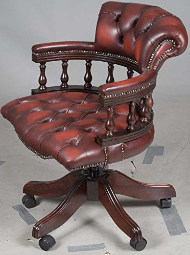 Antique Style Leather Office Chair 1