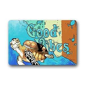Amazon Com Funny Cartoon Sea Turtle Art With Good Vibes