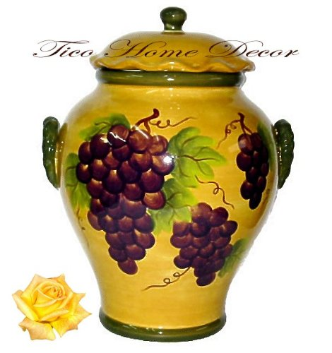 Tuscan Canister Sets Cookie Jar Canister Tuscany Grape