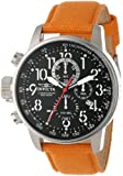 Invicta Force Lefty Men's Quartz Watch with Black Dial Chronograph Display and Orange Nylon Strap 11520