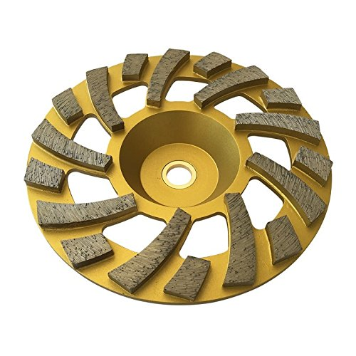 """7"""" Long Lasting Diamond Cup Wheels for Extra Lasting Concrete, Epoxy, Paint, Mastic Grinding - 7/8""""-5/8"""" Arbor"""