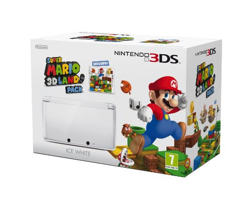 Nintendo 3DS Ice White Console and Super Mario 3D Land