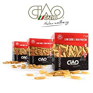 Amazon.com : Ciao Carb High Protein Low Carb Pasta Fusilli : Grocery