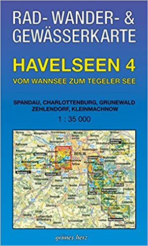 Rad-, Wander- und Gewässerkarte Havelseen 4: Vom Wannsee zum Tegeler See