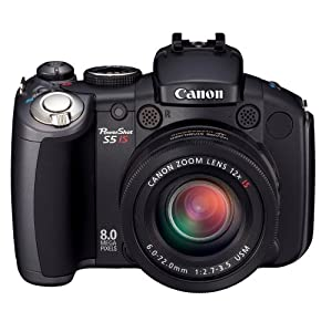 Canon PowerShot Pro Series S5 IS 8.0MP Digital Camera with 12x Optical Image Stabilized Zoom
