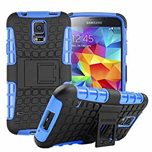 Nexus 6 Case,Google Nexus 6 Cover Case,ACCUCASE Heavy Duty Shockproof Scratch Proof Hybrid Rubberized TPU+PC With Kickstand Protective Case Cover for Google Nexus 6 (Blue )