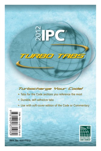 2012 International Plumbing Code Turbo Tabs for Soft-cover Edition - ICC (distributed by Cengage Learning) - 0201TS12 - ISBN: 160983108X - ISBN-13: 9781609831080