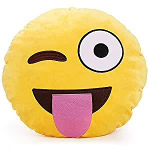 YINGGG? Cute Emoji Plush Pillow Round Cushion Toy Gift for Friends/Children