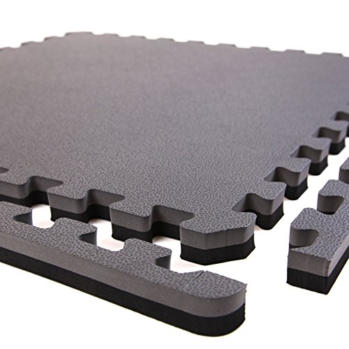 Incstores 1 Quot Mma Interlocking Foam Tiles Black Grey 10