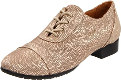 Maloles Women's Dorothy Oxford,Grey Dots Leather,36.5 EU/6.5 M US