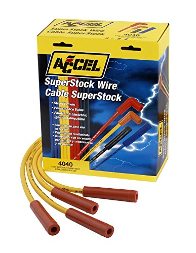 ACCEL 4040 SuperStock 8mm 4000 Series Yellow Graphite Spark Plug Wire Set (Spark Plug Wires Ford Explorer compare prices)