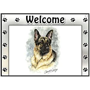 German Shepherd Welcome Sign
