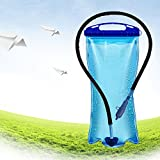 Andoer 2L PEVA Wide Mouth Hydration Water Bladder Bag for Sports Hiking Camping Climbing Bicycle Backpack Portable