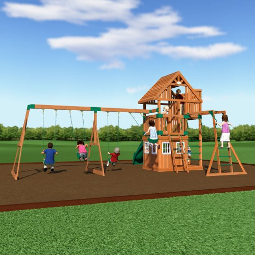 backyard discovery wanderer all cedar wood playset swing set toys