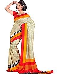 Shri Vaishnavi Designer Raw Silk Printed Saree (5473)