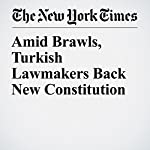 Amid Brawls, Turkish Lawmakers Back New Constitution | Rod Nordland