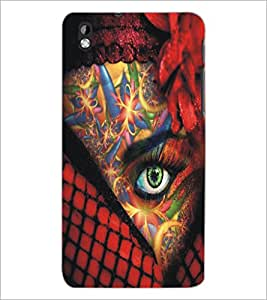 PrintDhaba Bright Eye D-5448 Back Case Cover for HTC DESIRE 816 (Multi-Coloured)