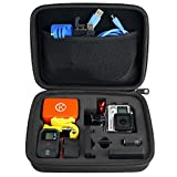 GoPro Case by CamKix for GoPro Hero 1/2/3/3+/4 and Accessories - Ideal for Travel or Home Storage - Complete Protection for Your GoPro Camera - Microfiber Cleaning Cloth Included (Medium,Black)