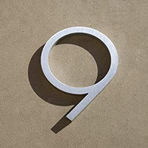 modern house number aluminum contemporary