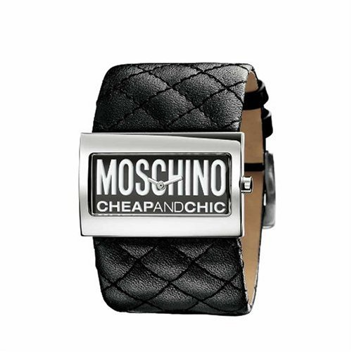 Moschino MW0013 Ladies 'Time For Fashon' Black Strap Watch