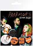 Posters: Paramore Badge Pack - Logos, 4 X 25mm & 2 X 32mm Badges (6 x 4 inches)