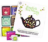 Teegeschenk in edler Metalldose - BIO-Tee-Kollektion mit 72 x original englischem Tee  - Geschenkidee