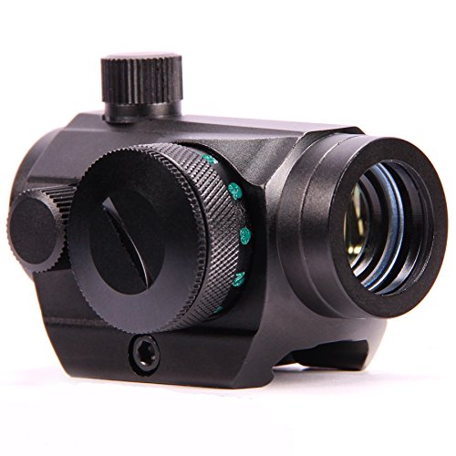 Vokul® Hunting Tactical Mini Compact 1x22mm Airsoft Rifle Optical Red and Green Dot Scope W/20mm Sight Picatinny / Weaver Mount