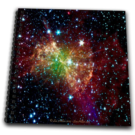 db_61548_1 Lee Hiller Designs Space - In the Cosmos - Dumbbell Nebulapia - Drawing Book - Drawing Book 8 x 8 inch