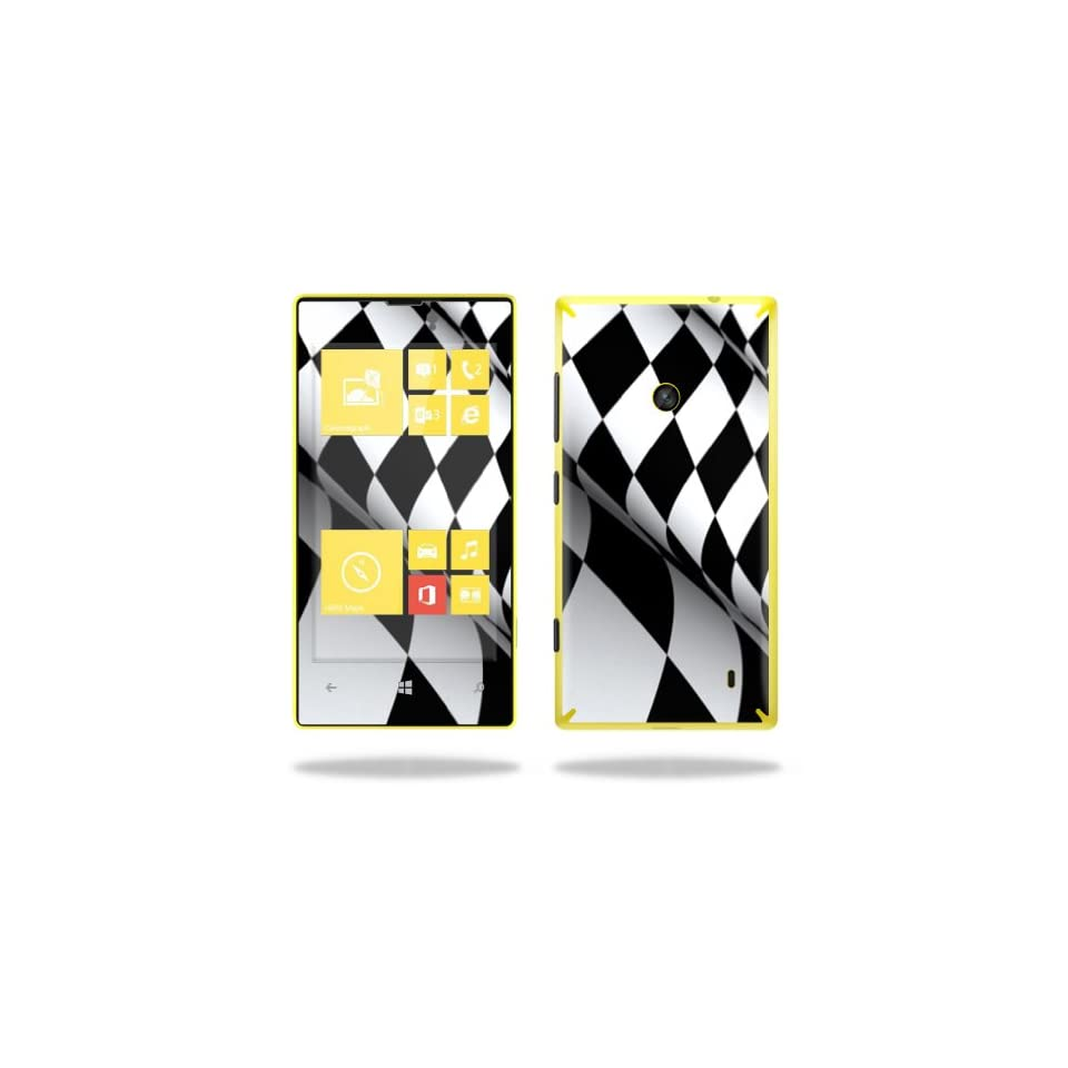 MightySkins Protective Vinyl Skin Decal Cover for Nokia Lumia 520 Cell Phone T Mobile Sticker Skins Checkered Flag Cell Phones & Accessories