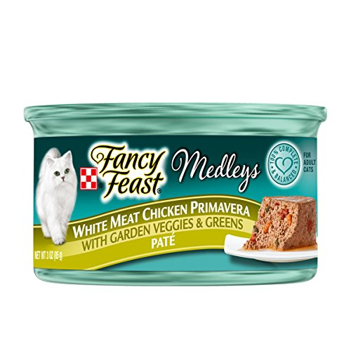 Purina Fancy Feast Wet Cat Food, Elegant Medleys, White Meat Chicken Primavera Pate with Garden Veggies & Greens, 3-Ounce Can, Pack of 24 (Fancy Feast Meat compare prices)