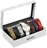 XOXO Womens XO9054 Seven Color Croco Interchangeable Strap Set Watch