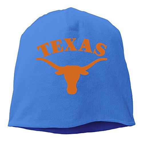 YUVIA Texas Longhorns Men's&Women's Patch Beanie RowingRoyalBlue Cap Hat For Autumn And Winter
