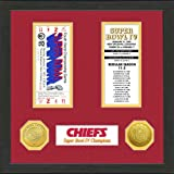 Kansas City Chiefs Framed Super Bowl Ticket and Coins at Amazon.com
