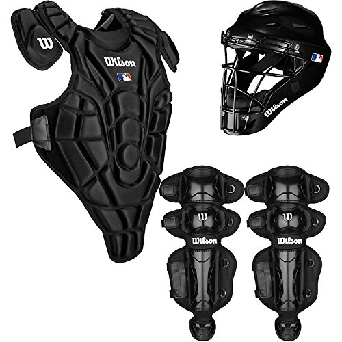 Wilson Youth EZ Gear Catcher's Kit, Large/X-Large/7-12 Years, Black (Catcher Gear compare prices)