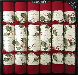 Luxury Holly Christmas Crackers 6 x 16""
