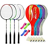 Guru PROBR09 Series-COMBO-3 Badminton Racquets Set Pack Of Four With Four Cover Six Shuttlecock & Four Hand Grip...